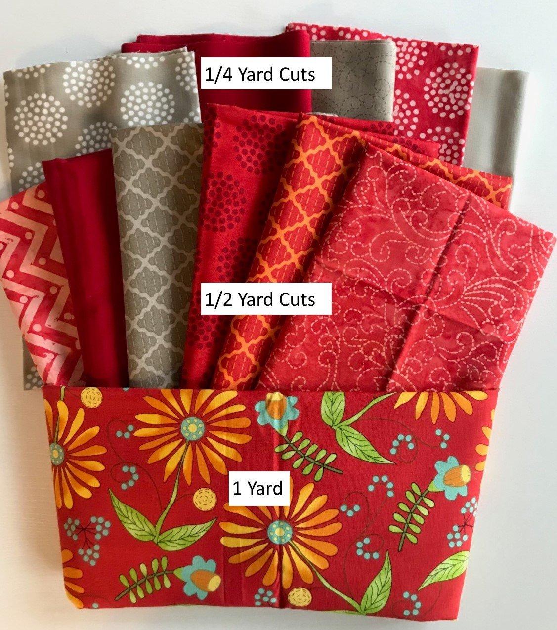 Bright Cherry Bundle- 5 1/4 yd Bundle