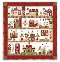 Mistletoe Lane Quilt Kit by Moda Fabrics from Bunny Hill Designs
