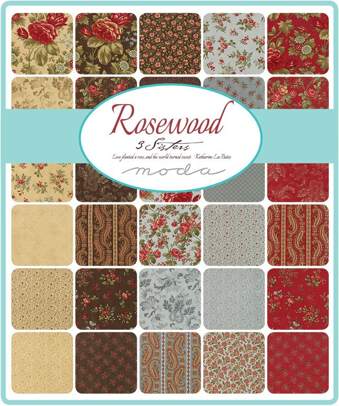 3 Sisters Rosewood Scrap Roll and Free Pattern