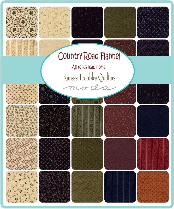 Kansas Troubles Country Road Flannel Scrap Roll and Free Pattern