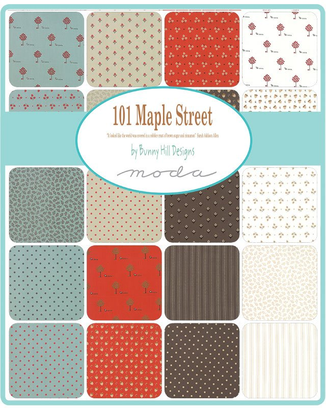 Bunny Hill Designs 101 Maple Street Scrap Roll and Free Pattern
