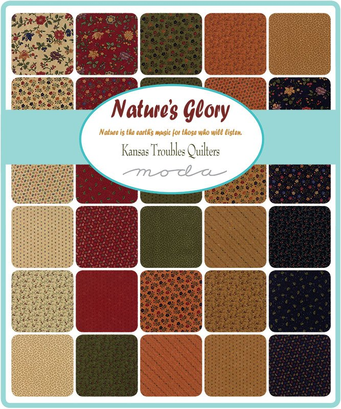 Kansas Troubles Quilters Nature's Glory Scrap Roll and Free Pattern