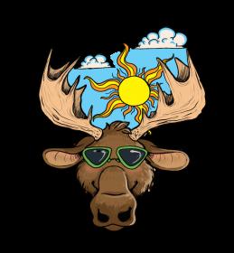 fabric moose