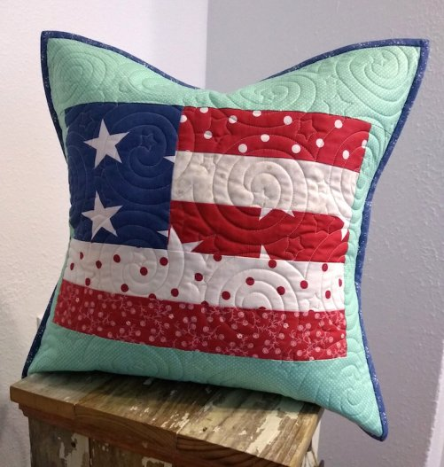 Fourth of July flag pillow