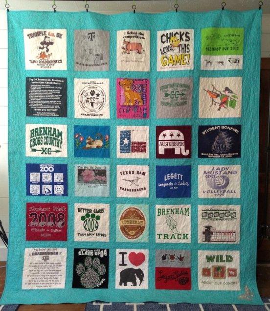 Queen t-shirt quilt