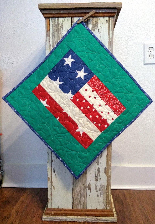 Flag Pillow Peacock