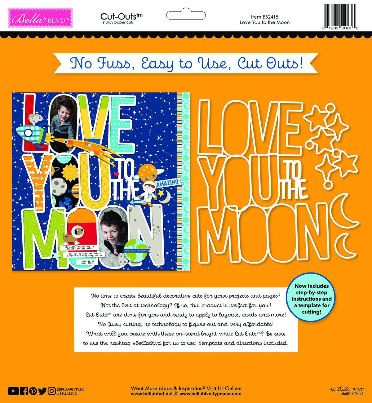 Love You To The Moon Cut Outs