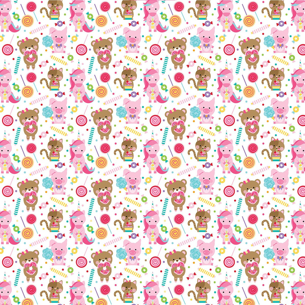 COLLECTION: My Candy Girl 12x12 Doublesided Cardstock