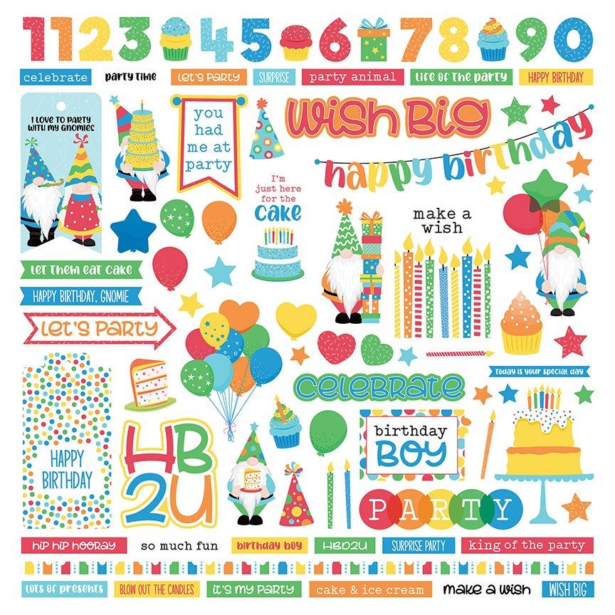 Norbert's Birthday Element Stickers