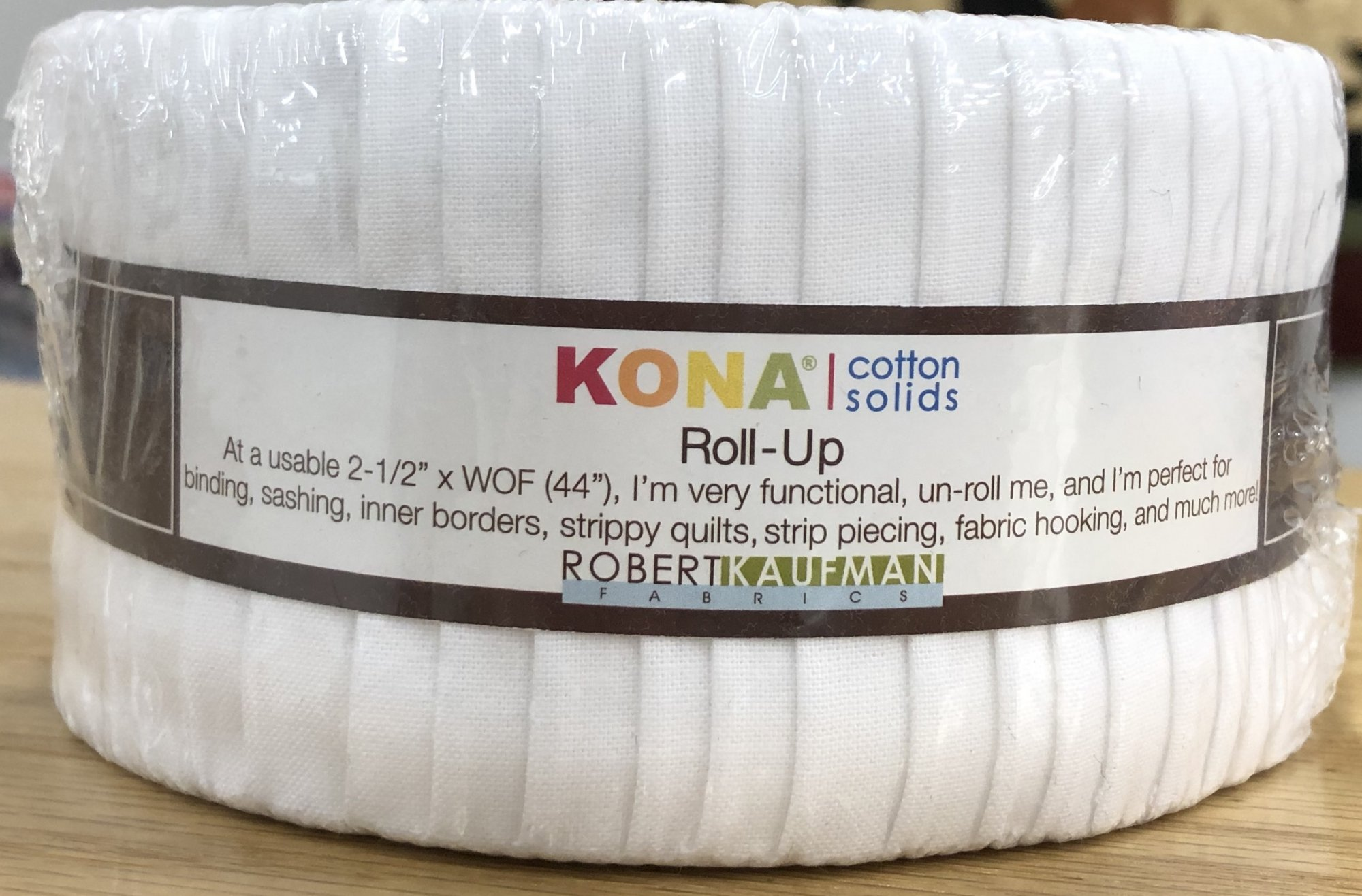 Kona Roll Up Cotton Solids, 2 1/2 Strips, 40 Count