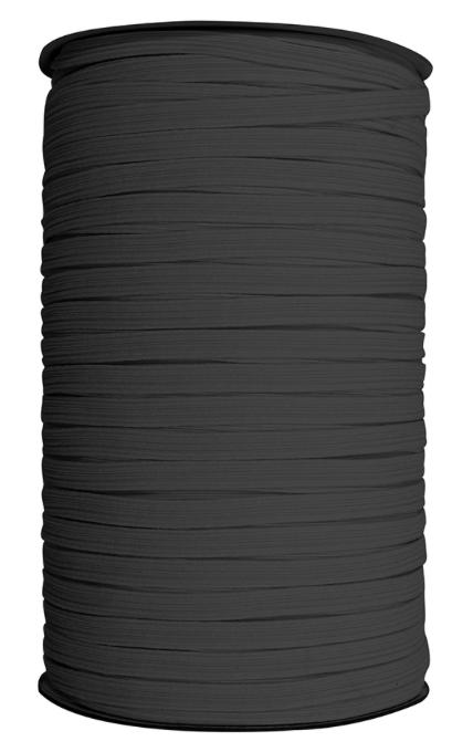 UNIQUE Braided Elastic 6mm x 180m Roll - Black