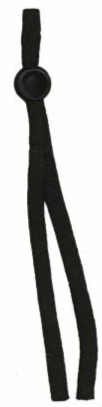 Drawstring Mask Elastic Black 8in. 4ct -
