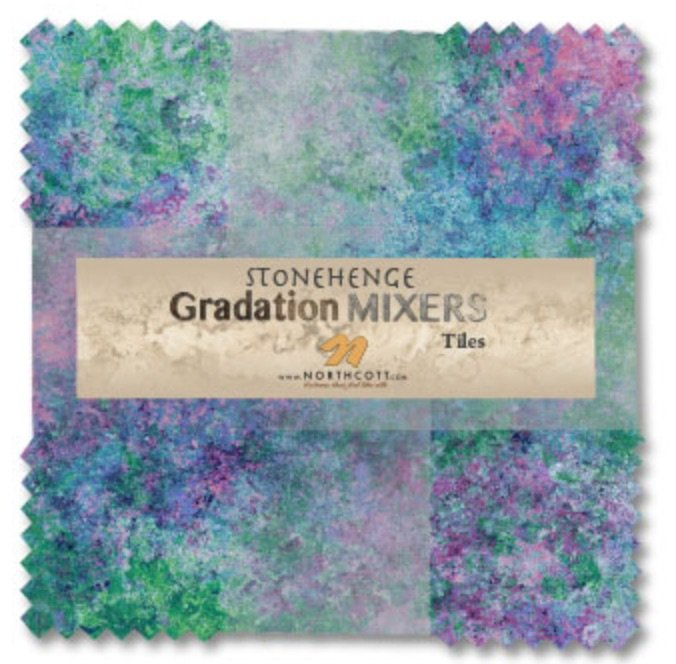 STONEHENGE GRADATION TILES 10 SQUARES 42 COUNT BRIGHT MIXERS