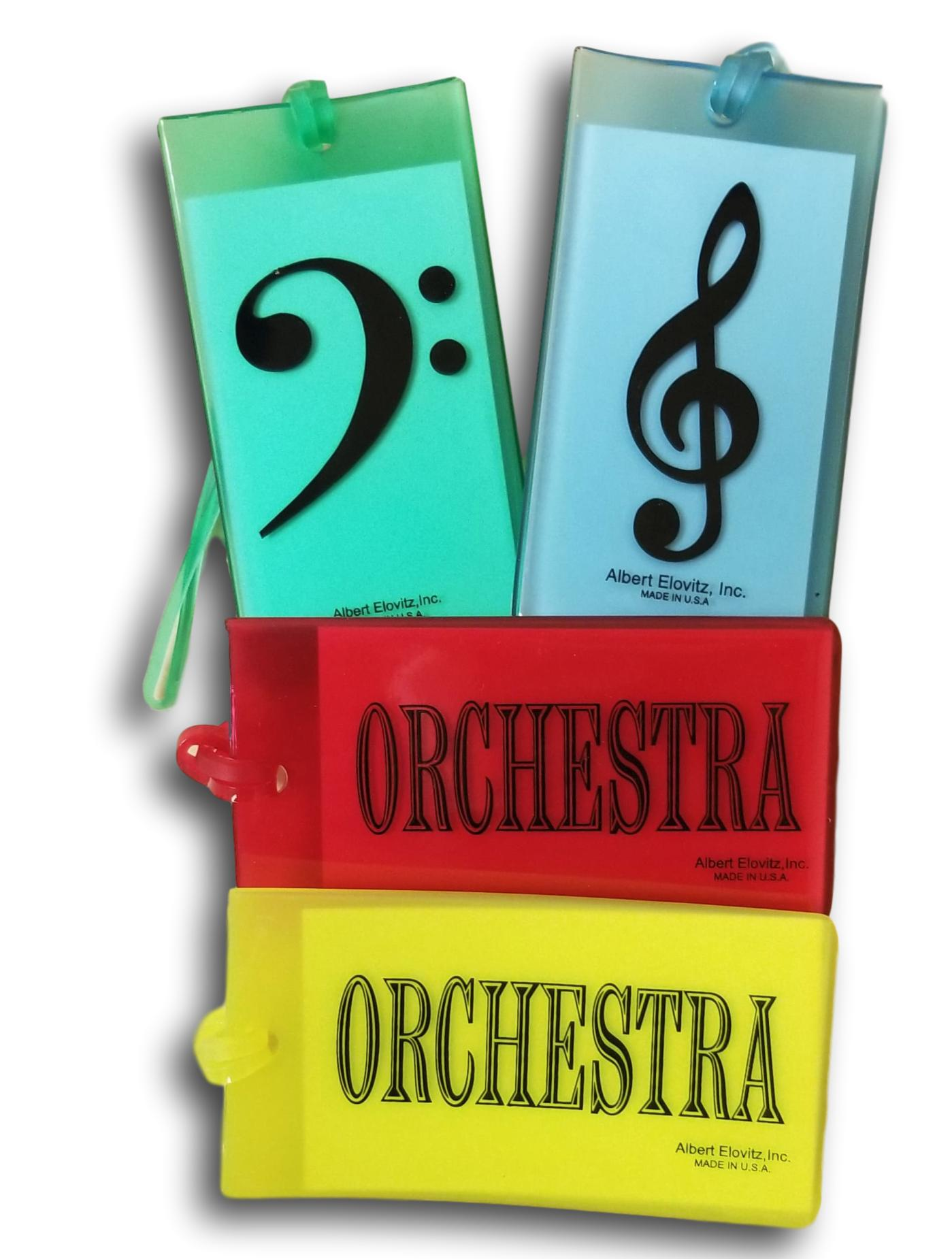 Instrument Name Tag - Treble Clef/G Clef