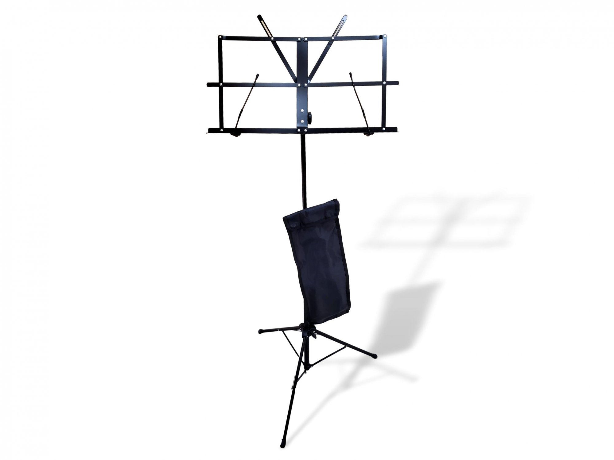 Folding Music Stand w/ Carrying Case (Black)
