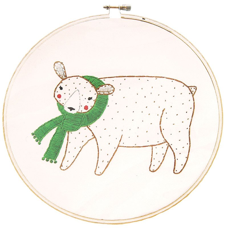 Embroidery Sampler Gingiber Merriment Bear