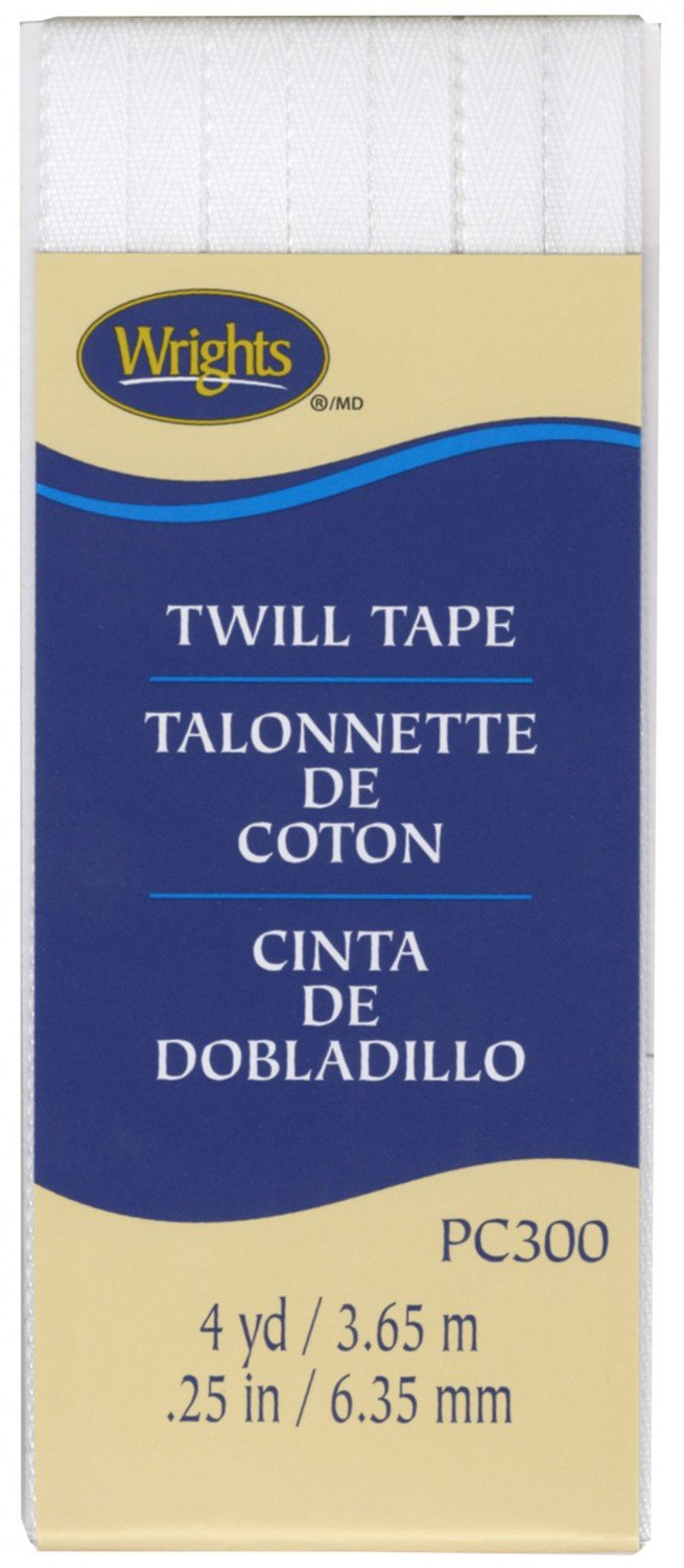 Twill Tape 1/4 Inch Wide - White