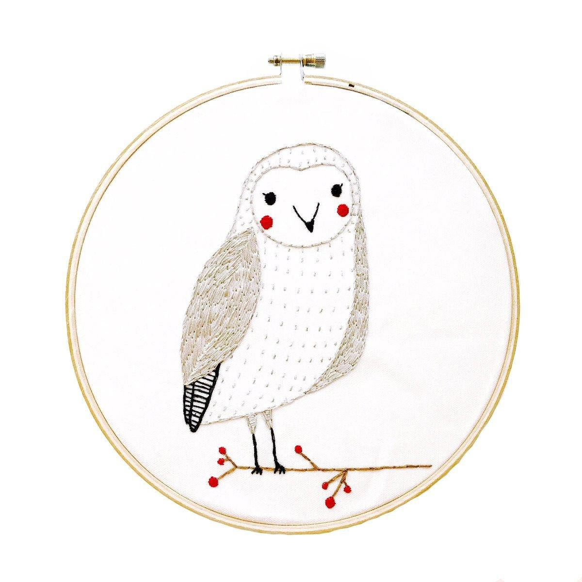 Embroidery Sampler Merriment Owl - Gingiber