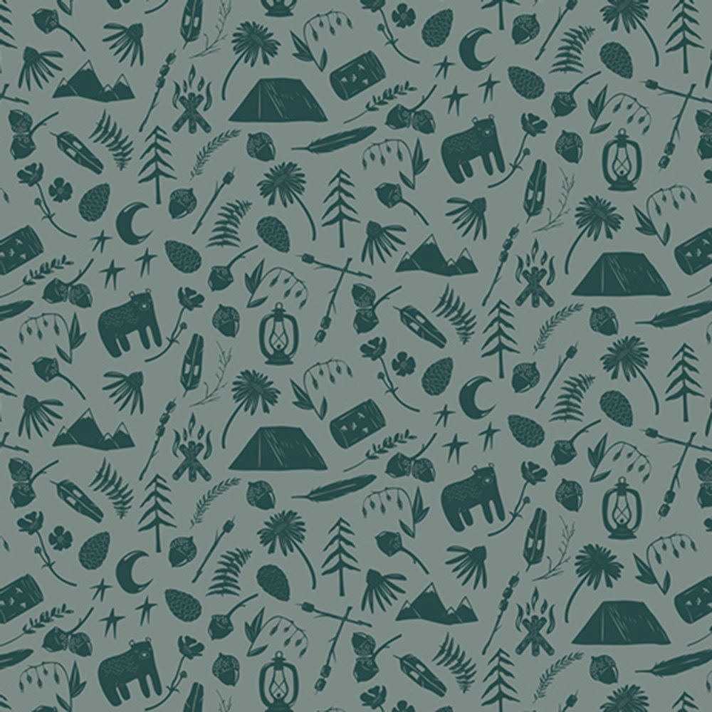 Camping Stories - Cotton Print