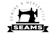 Seams logo. Text reads