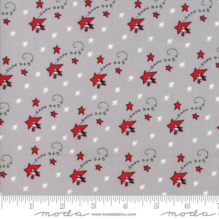 Fabric Merry Merry Snow Days - Grey