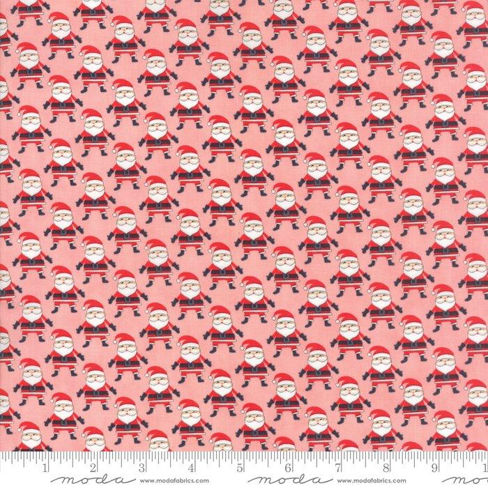 Fabric North Pole Santa Claus - Pink