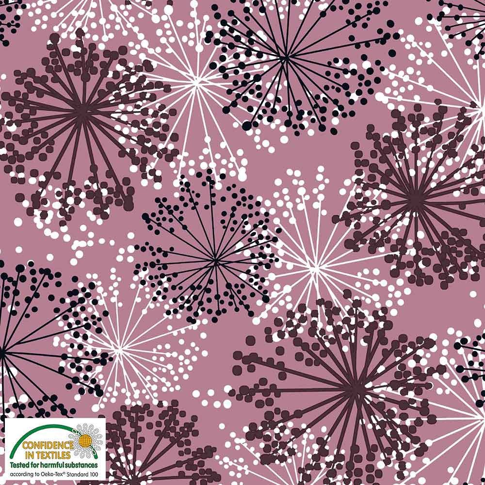 Fabric Stof Avalana Jersey - Rose Abstract Floral REMNANT 1.75 Yards