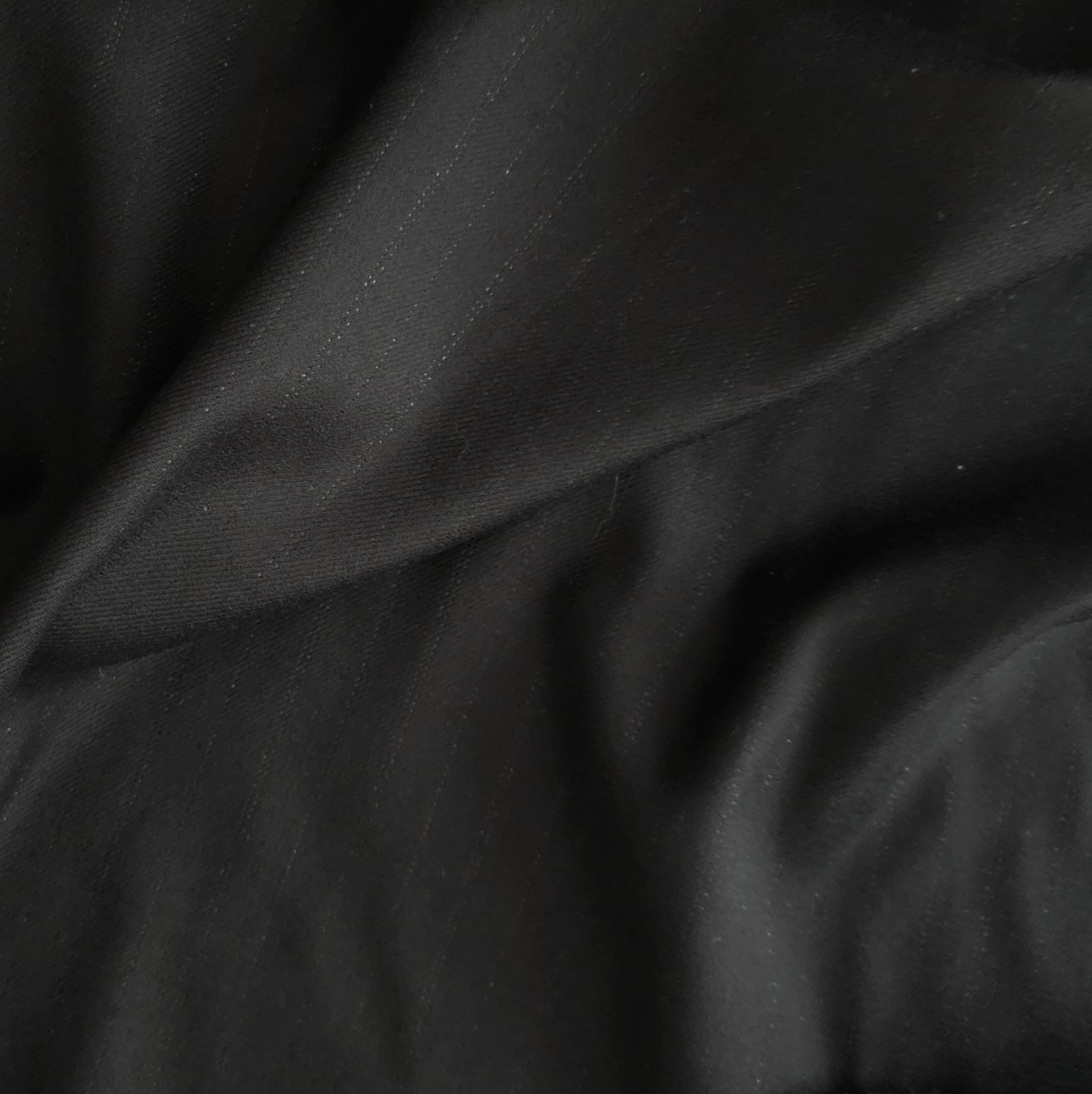 Fabric Wool Black w/Metallic Pinstripes