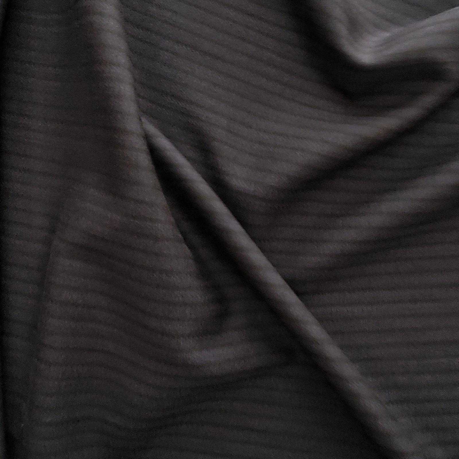 Fabric Wool Suiting Herringbone Stripe Navy on Black