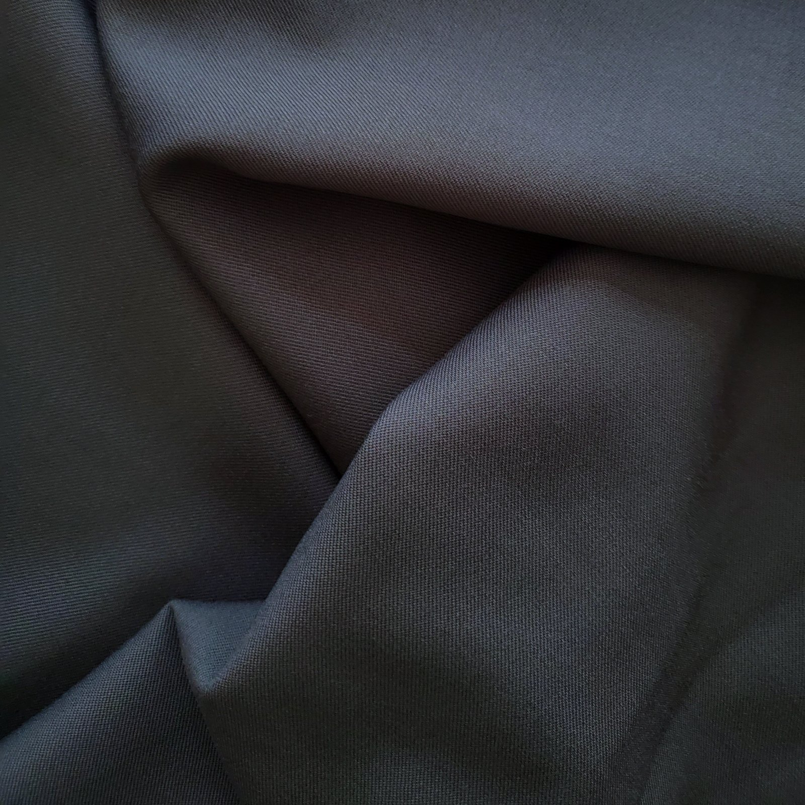 Fabric Wool Twill Suiting Steel Blue