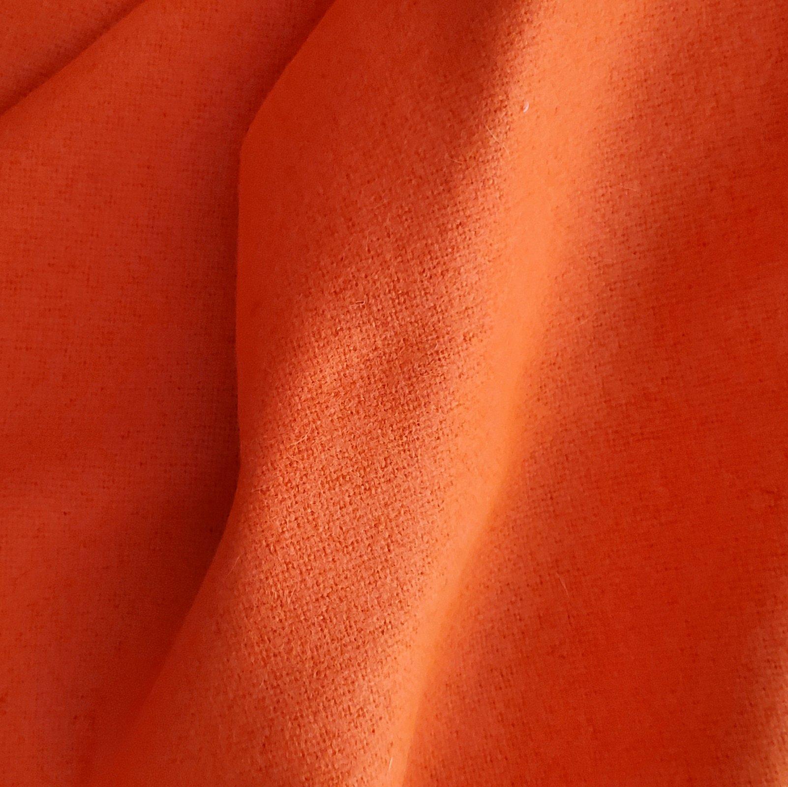 Fabric Wool Coating Blaze Orange Solid