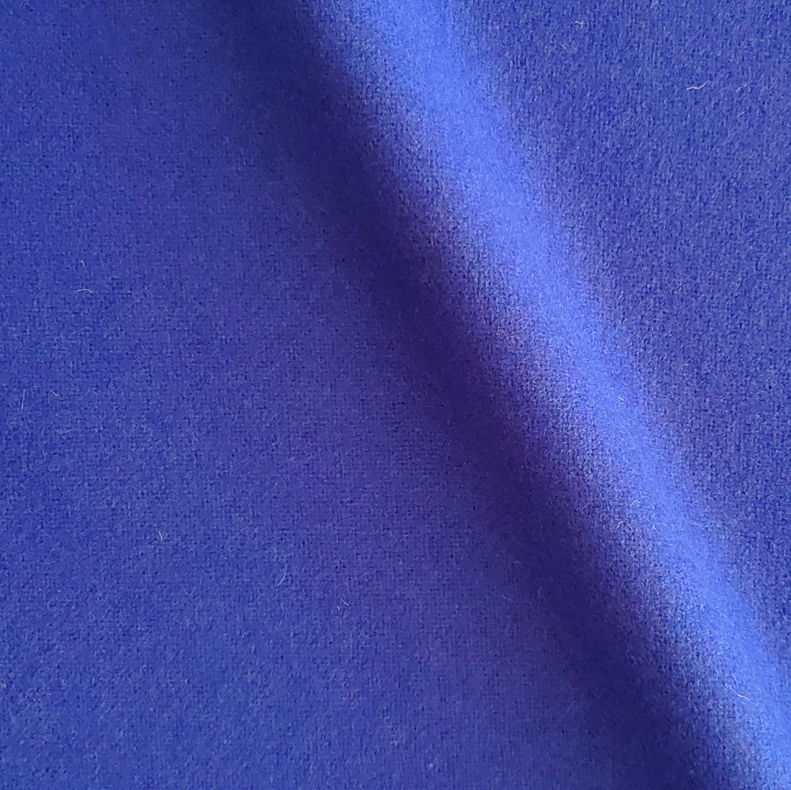 Fabric Wool Coating Blueberry Solid