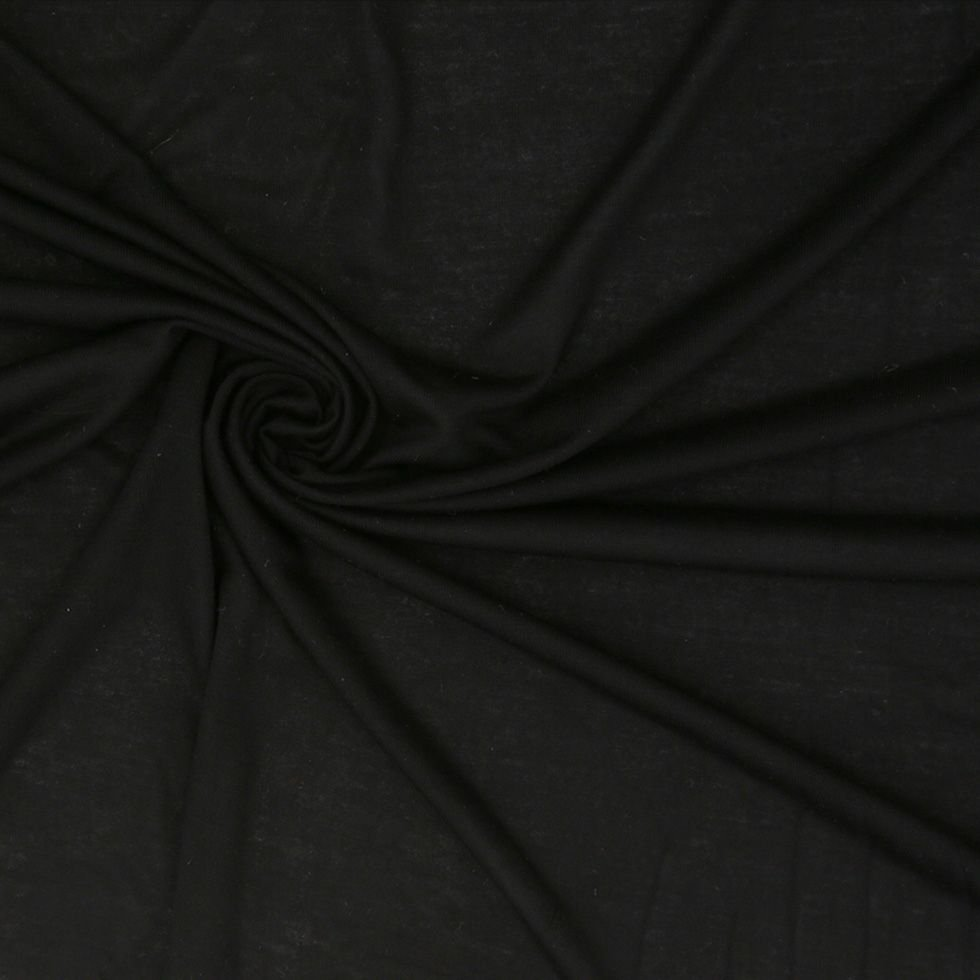 Fabric Black Tencel Jersey REMNANT 1.5 Yards