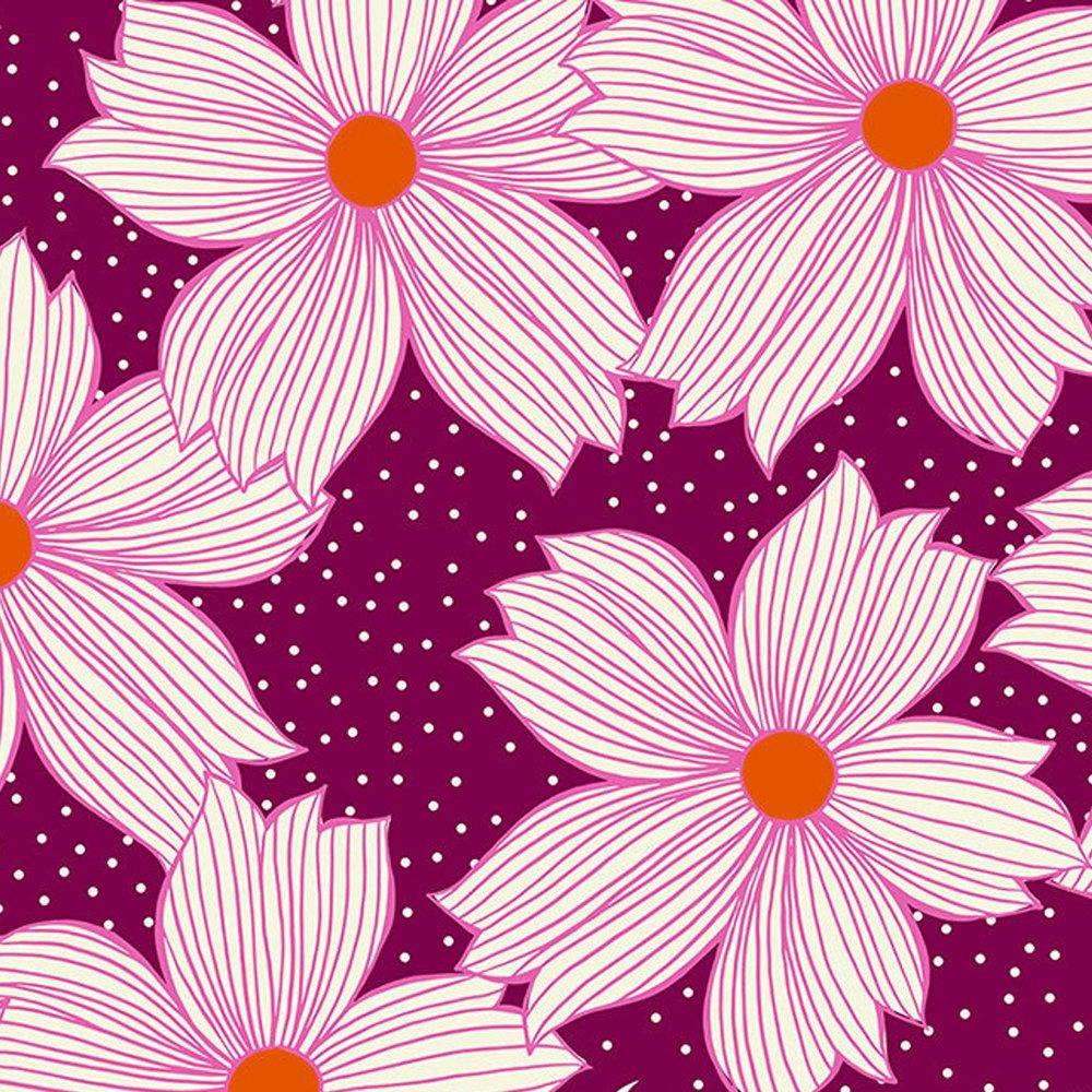 Crescent Floral Night - Cotton Print