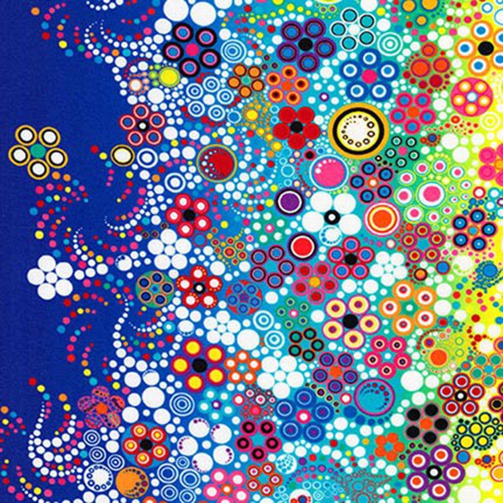 Effervescence (Rainbow) - Cotton Border Print