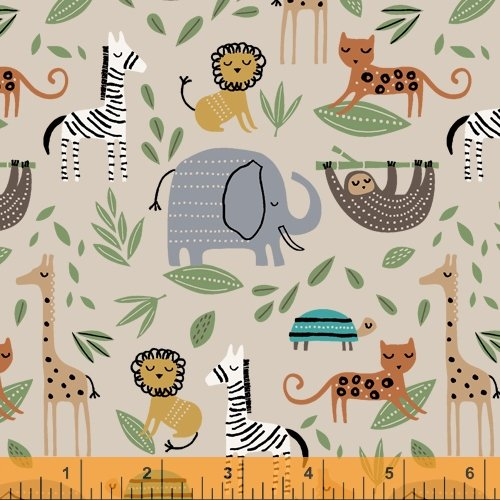 Cubby Bear Flannel - Jungle Friends