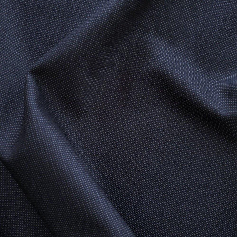 100% Wool- Navy/Black Microcheck