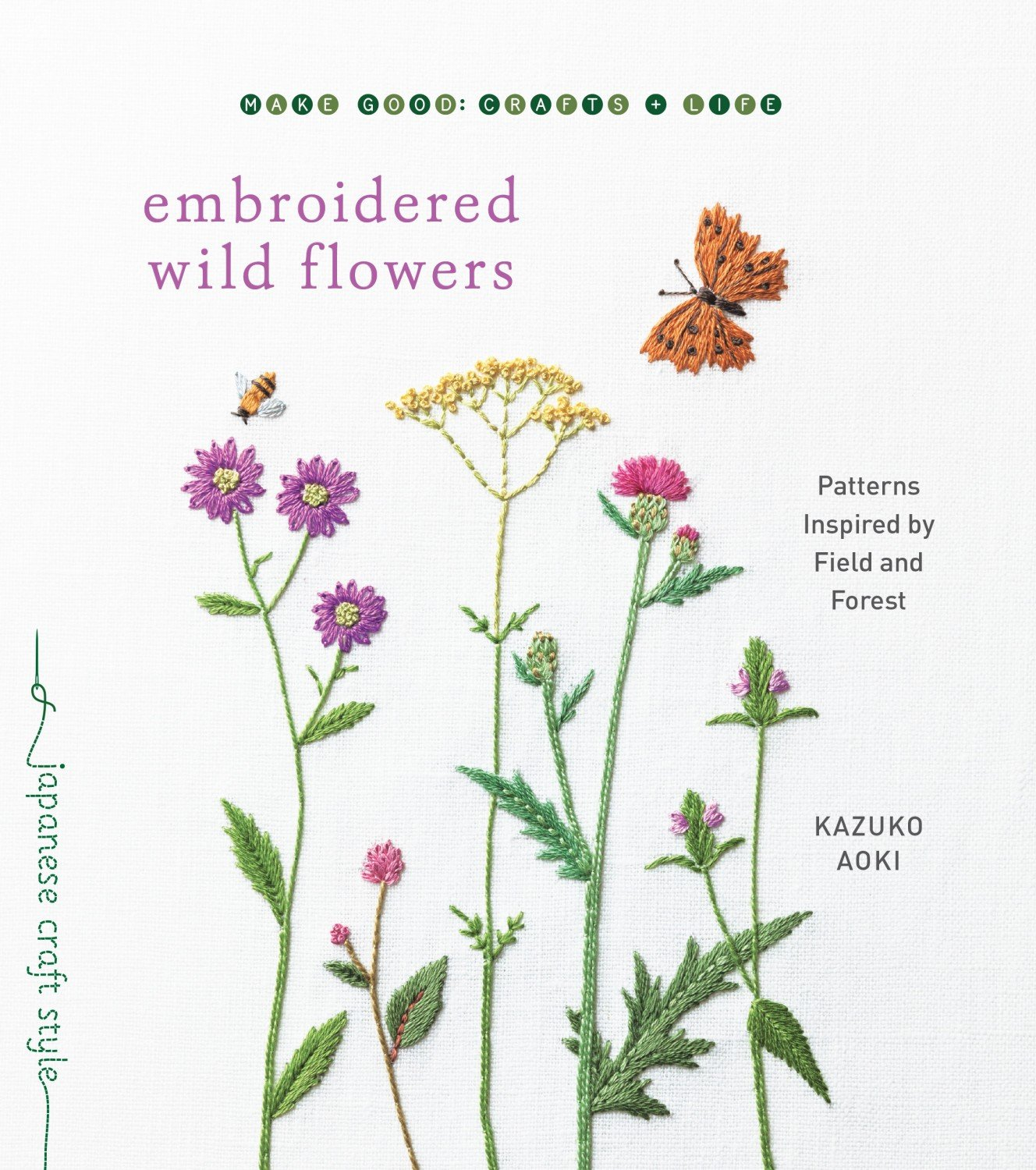 Books Embroidered Wild Flowers