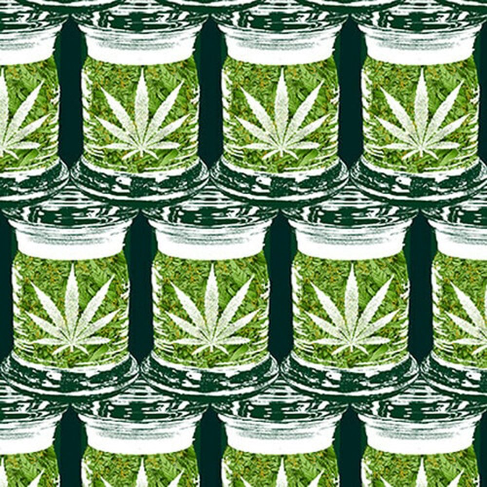 Cannabis Jars - Cotton Print