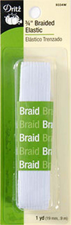 Notions 3/4 Braided Elastic Pre-Packaged