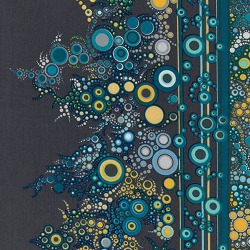Effervescence (Riviera) - Cotton Border Print