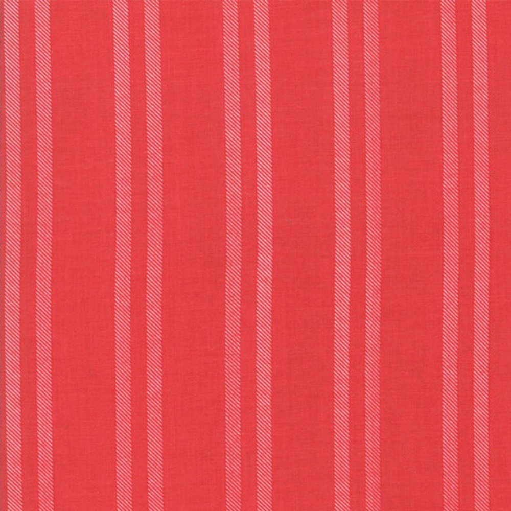 Cranberry Farmhouse Stripe - Cotton Print