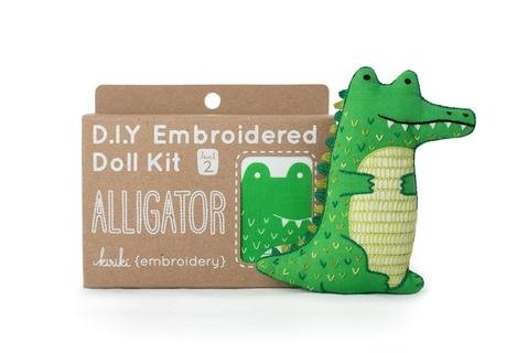 Embroidery Kit Doll Alligator Kiriki Press