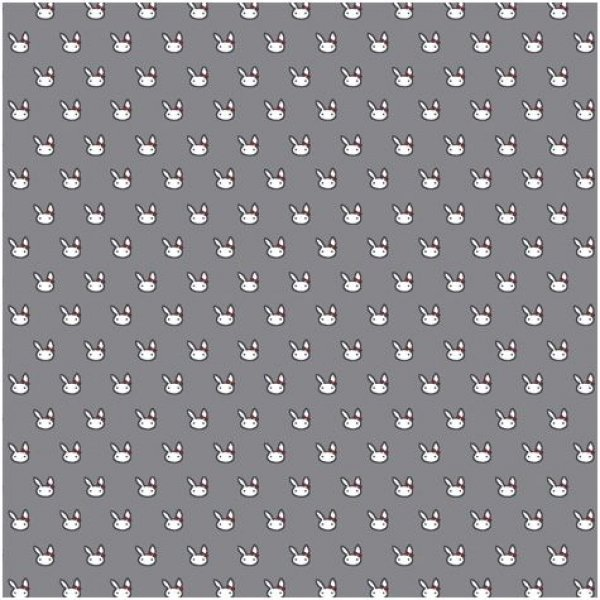 Fabric Stof Avalana Jersey - Bunnies with Bows