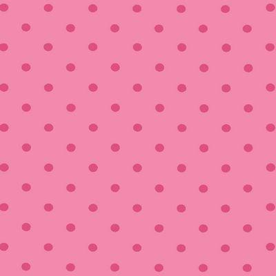 Fabric Stof Avalana Jersey - Double Pink Polka Dots