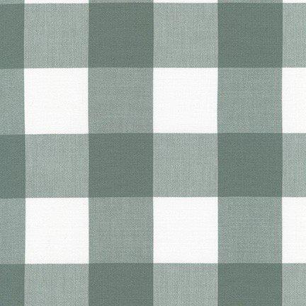 Fabric Maxi-gingham Kitchen Window Wovens Shale