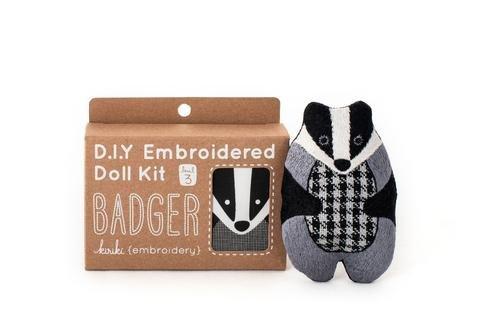 Embroidery Kit Doll Badger Kiriki Press