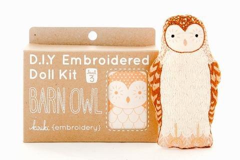 Embroidery Kit Doll Barn Owl Kiriki Press