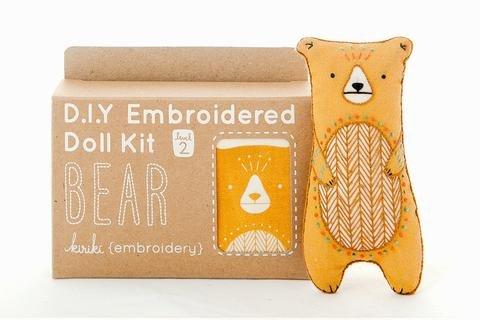 Embroidery Kit Doll Bear Kiriki Press