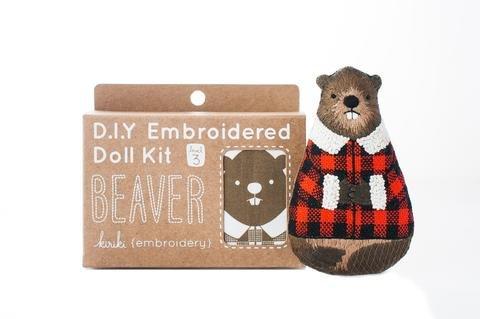 Embroidery Kit Doll Beaver Kiriki Press